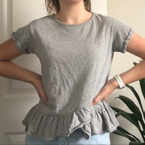 Grey peplum t-shirt